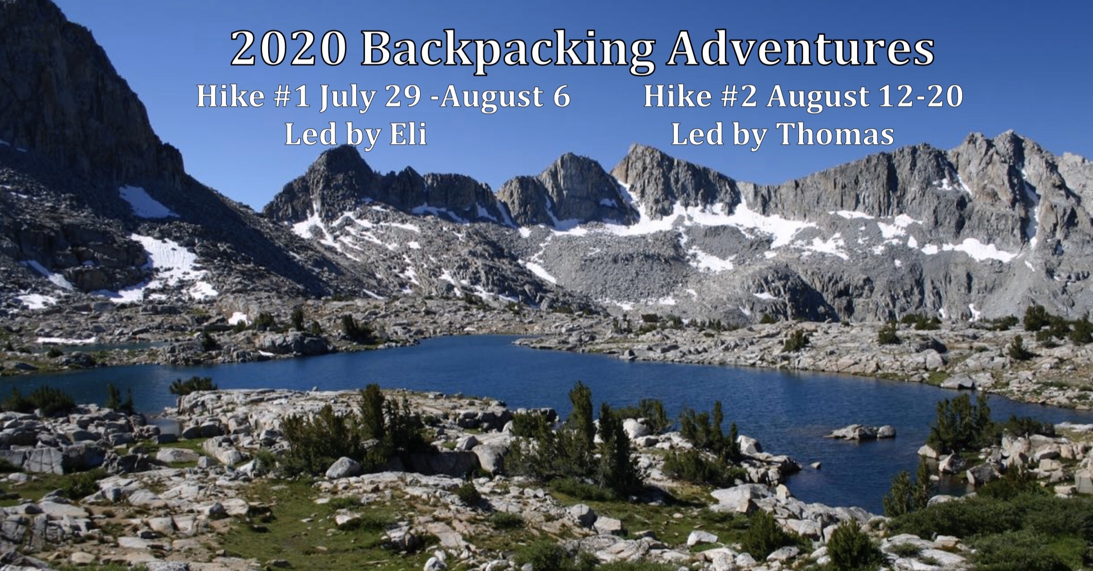 Pictures of the OPC Backpacking Announcemnet in the Sierras